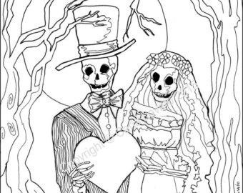 340x270 Bride Coloring Page Etsy