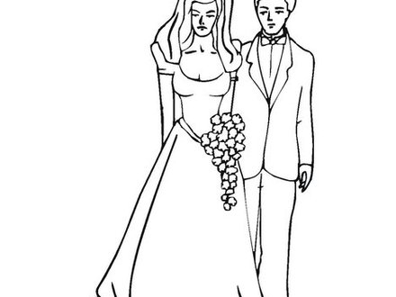 440x330 Just Married Coloring Page, Just Married Coloring Book Page
