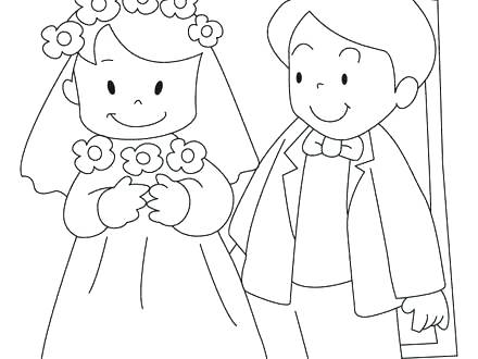 440x330 Corpse Bride Coloring Pages Bride And Groom Colouring Pages