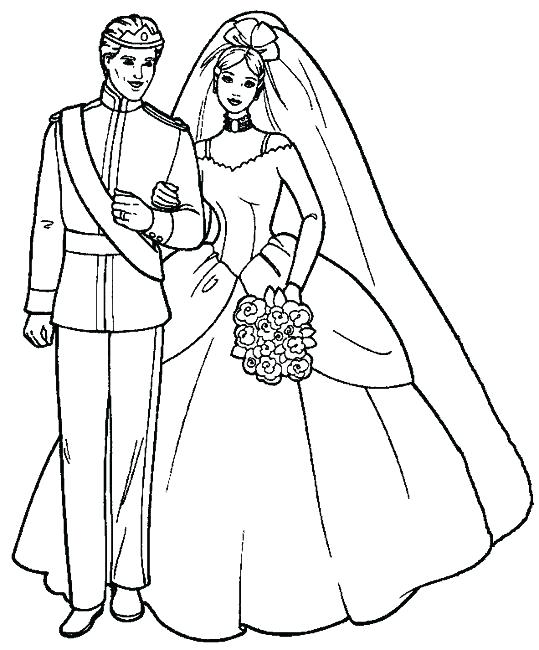 539x650 Coloring Bride And Groom Coloring Pages Wedding Colouring Sheets