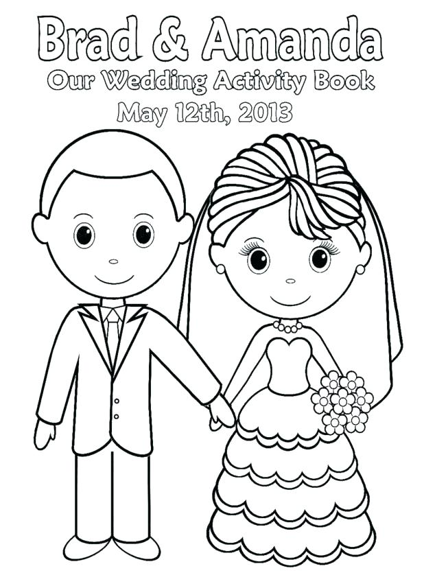 618x854 Bride And Groom Coloring Pages Book Brid