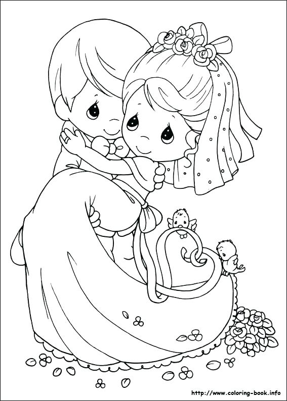 567x794 Bride And Groom Coloring Pages Bride And Groom Coloring Pages