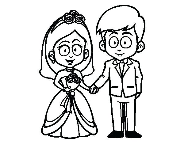 600x470 Bride And Groom Coloring Pages Free Wedding Coloring Pages