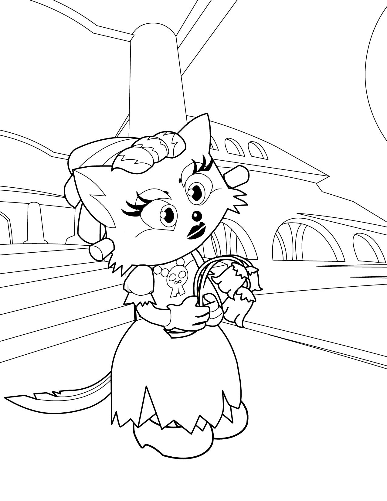 Bride Of Frankenstein Coloring Pages At Getdrawings Com Free For