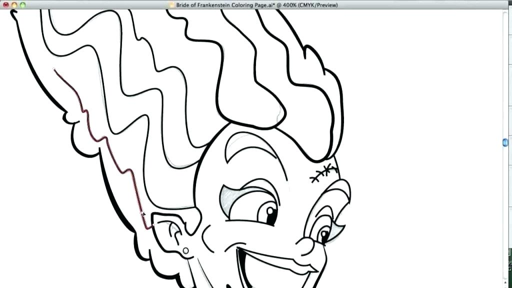 1024x576 Frankenstein Coloring Page Coloring Page Bride Coloring Page