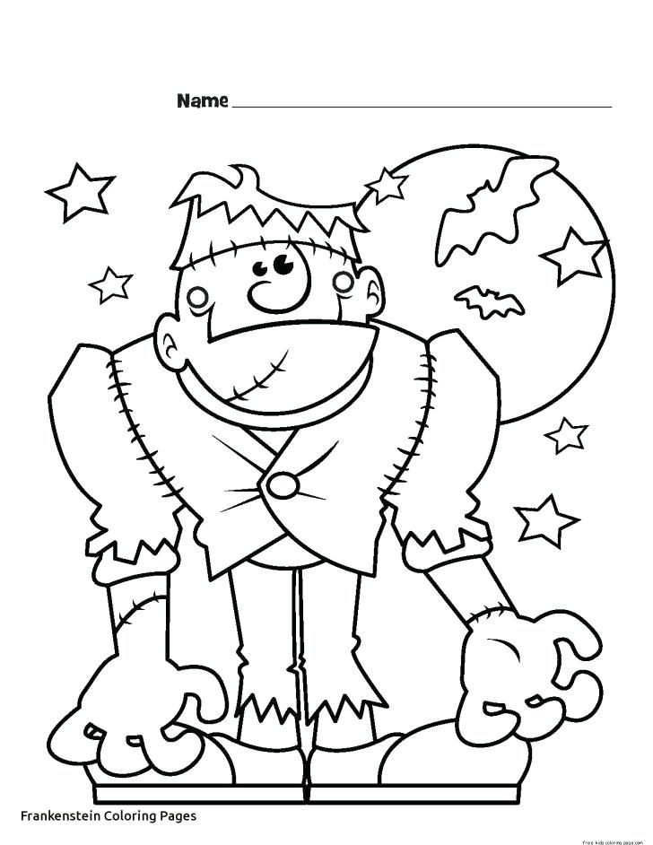728x942 Frankenstein Coloring Page X Cute Frankenstein Coloring Pages