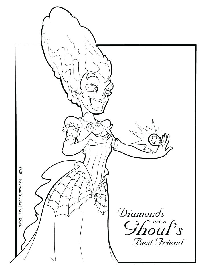 736x952 Frankenstein Coloring Pages Bride Of Coloring Pages Cute Cartoon