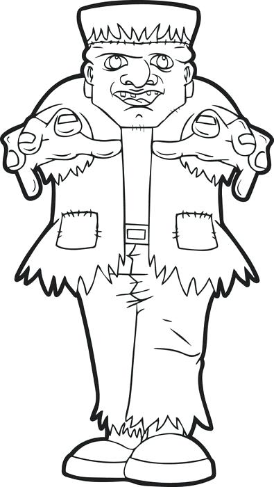 395x700 Frankenstein Coloring Pages Coloring Trend Medium Size Clip Art