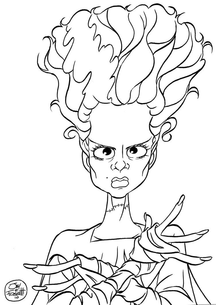 753x1061 Bride Frankenstein Cartoon Drawings