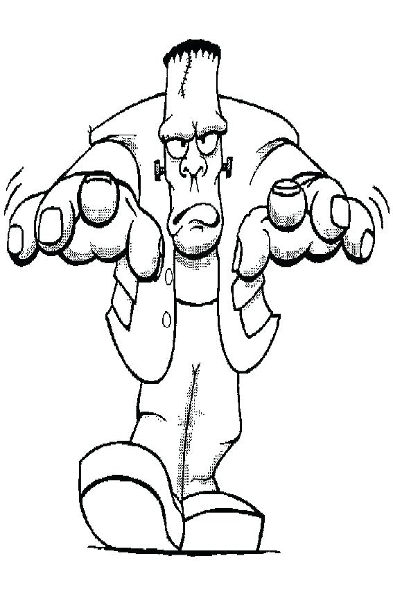 567x850 Frankenstein Coloring Pages Pictures For Kids Bride
