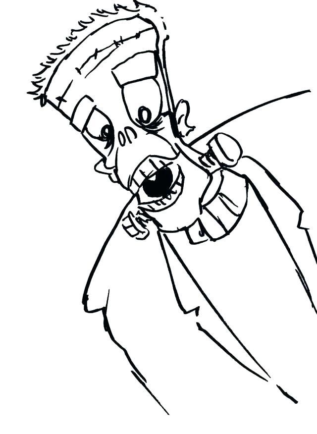 640x876 Bride Of Frankenstein Coloring Pages Color