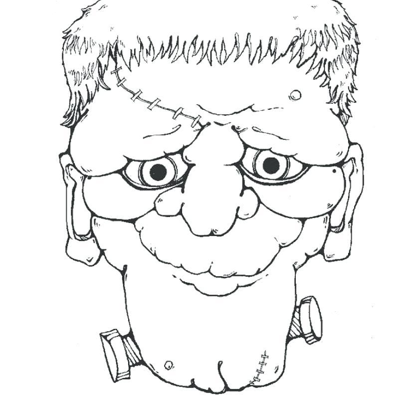 820x800 Bride Of Frankenstein Coloring Pages Page Head Fuhrer Von