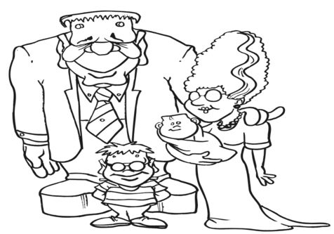 476x333 Bride Of Frankenstein Coloring Pages Page Image Clipart Images