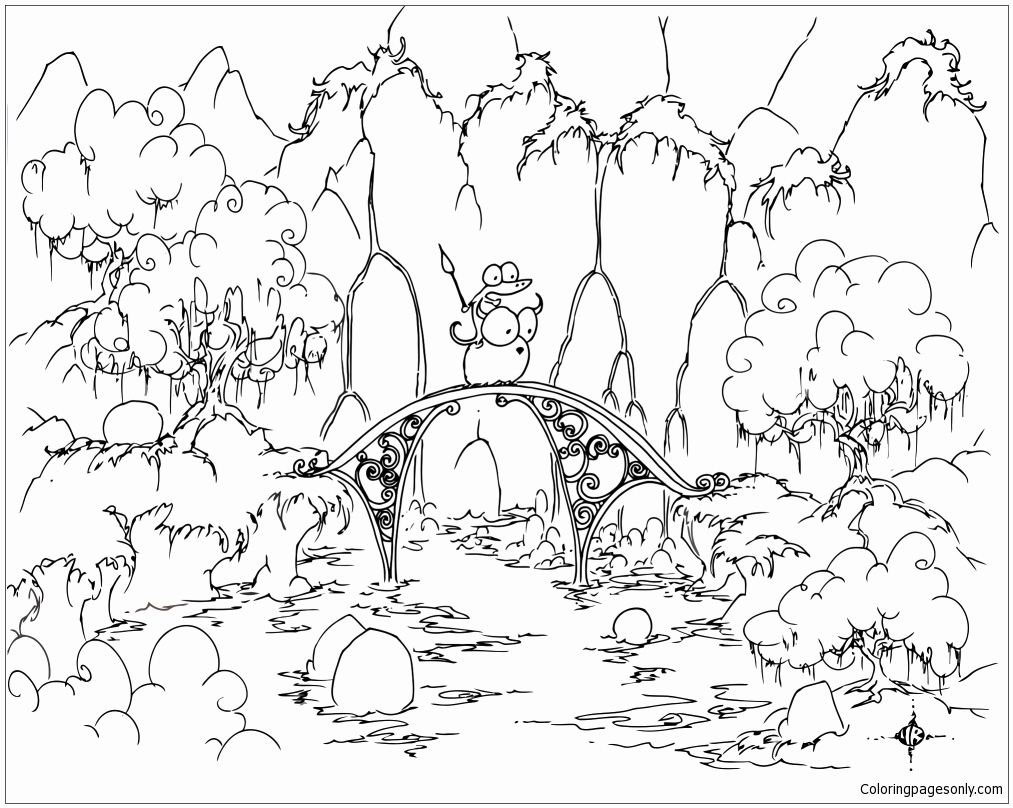 Bridge Coloring Page
