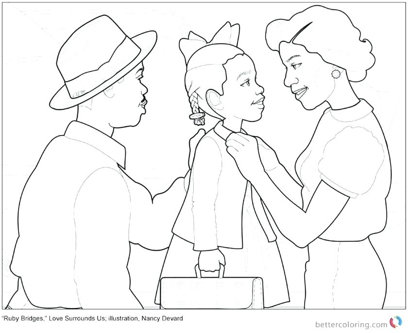 840x686 Ruby Bridges Coloring Page Coloring Page Commission Jasmine