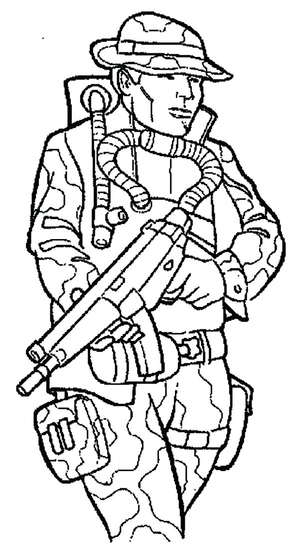 600x1118 British Soldier Colouring Pages Printable Coloring Military