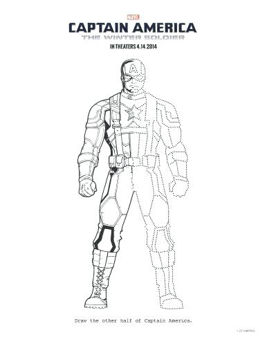 386x500 Soldier Coloring Page Captain The Winter Soldier Printable