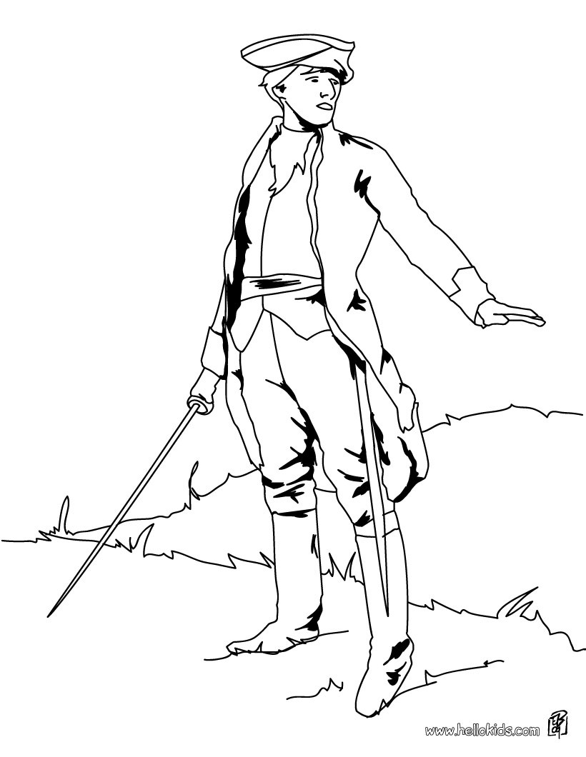 820x1060 Soldier With Sword Coloring Pages