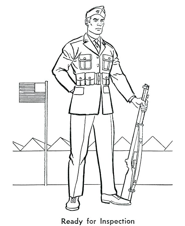 600x734 Soldiers Coloring Pages Coloring Pages Army Coloring Pages Army
