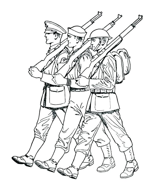 600x734 Awesome Soldier Coloring Page Coloring Pages Of Army Soldiers Army