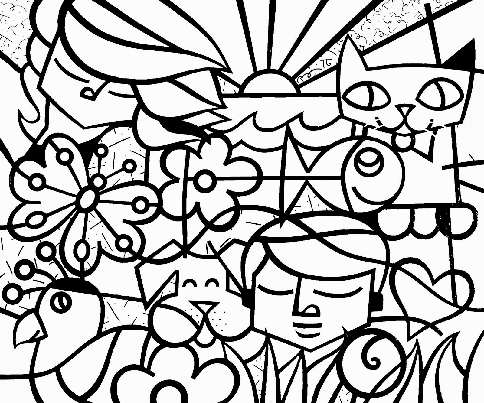 1600x1333 Fascinating Britto Coloring Pages Picture For Romero Trend