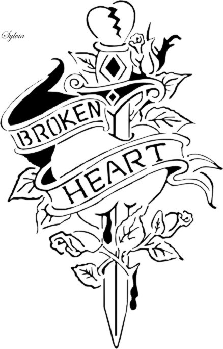 438x684 Broken Hearts Coloring Pages