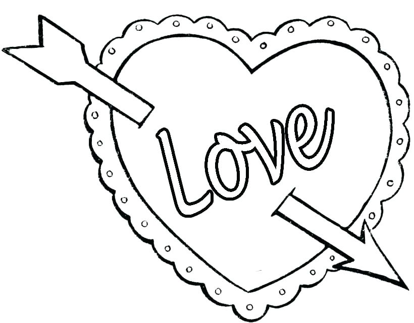 820x641 Heart Color Pages Hearts And Roses Coloring Pages Heart Coloring