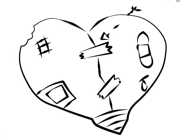600x450 Heart Coloring Pictures To Print A Heart Coloring Sheet Heart