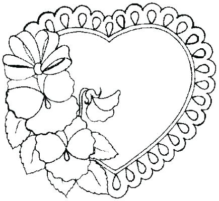 435x400 Printable Heart Coloring Pages Broken Heart Coloring Pages