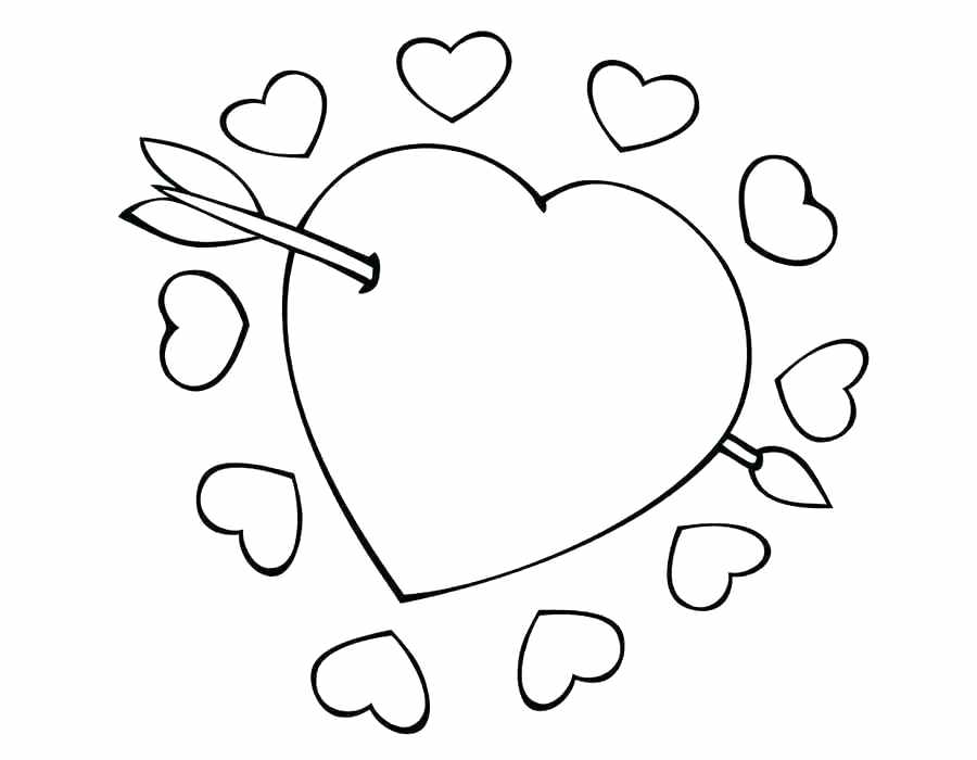900x700 Printable Heart Coloring Pages Heart Coloring Page For Kids