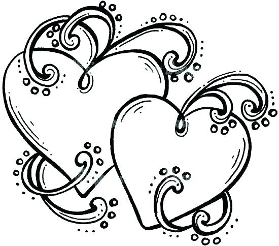 550x484 Cool Heart Coloring Pages