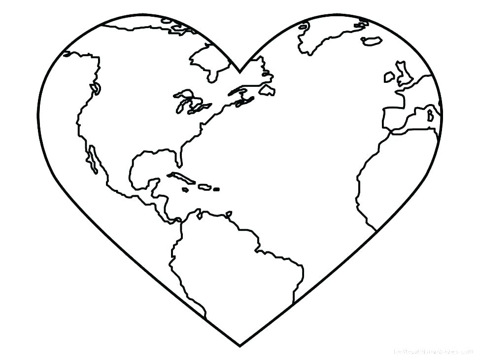 970x728 Heart Coloring Sheets