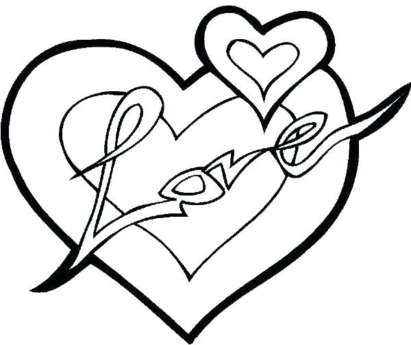 600x503 Broken Heart Coloring Sheets Pages Cute Exciting Sheet Full Size