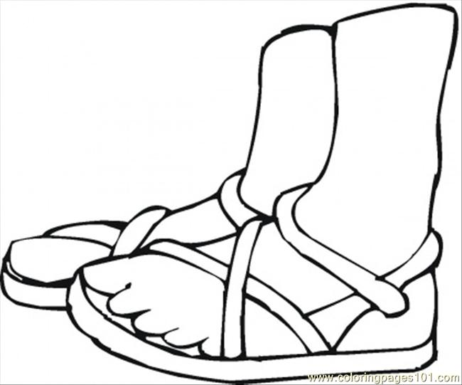 650x541 Summer Shoes Coloring Page Coloring Page
