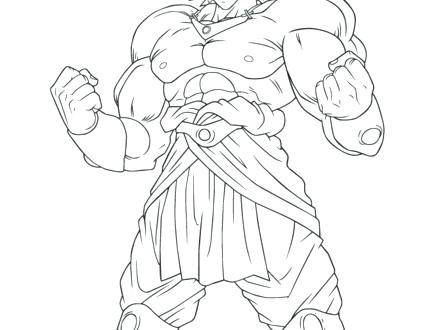 440x330 Broly Coloring Pages Dragon Ball Coloring Page Free Printable