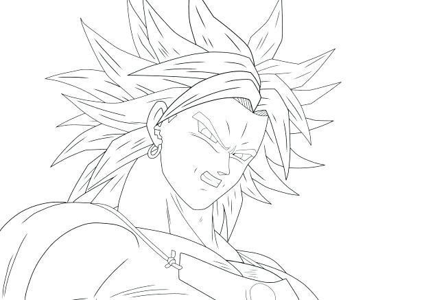 618x437 Broly Coloring Pages Line Art