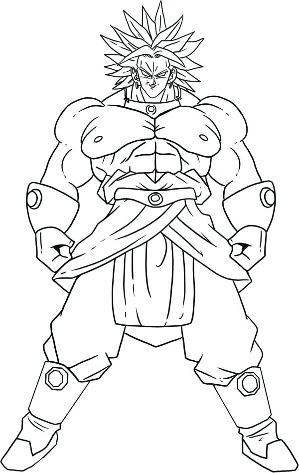600x948 Broly Coloring Pages Super Form In Dragon Ball Z Coloring Page