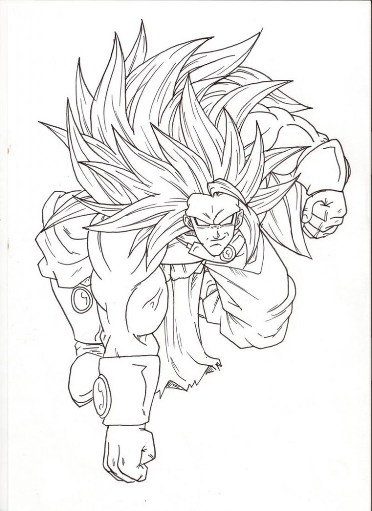 745x1024 Broly Coloring Pages