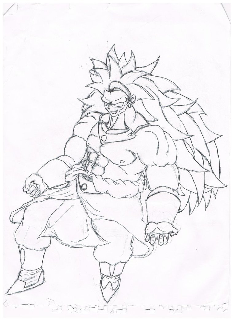 762x1048 Broly Super Saiyan Coloring Pages Coloring Pages, Broly Coloring