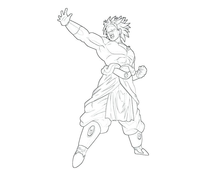 800x667 Broly Coloring Pages