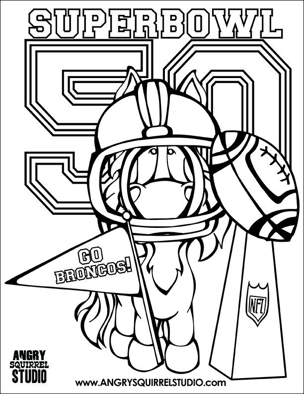 612x792 Broncos Coloring Pages