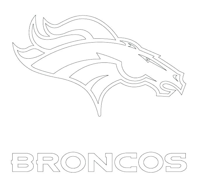 678x600 Broncos Coloring Pages