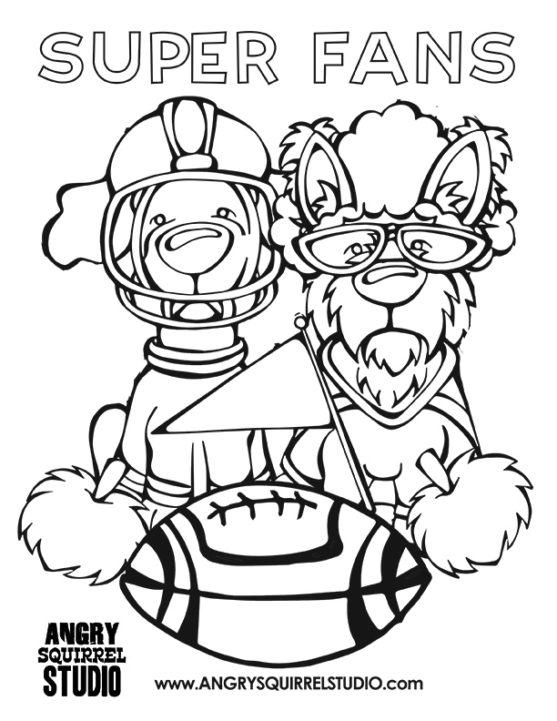 612x792 Free Coloring Pages Broncos Football Angry Squirrel Studio