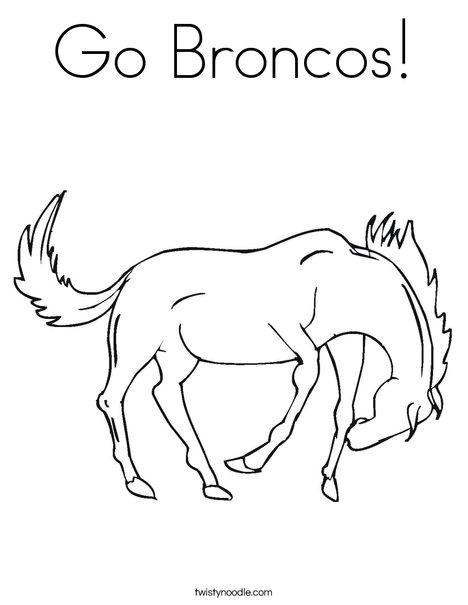 468x605 Go Broncos Coloring Page