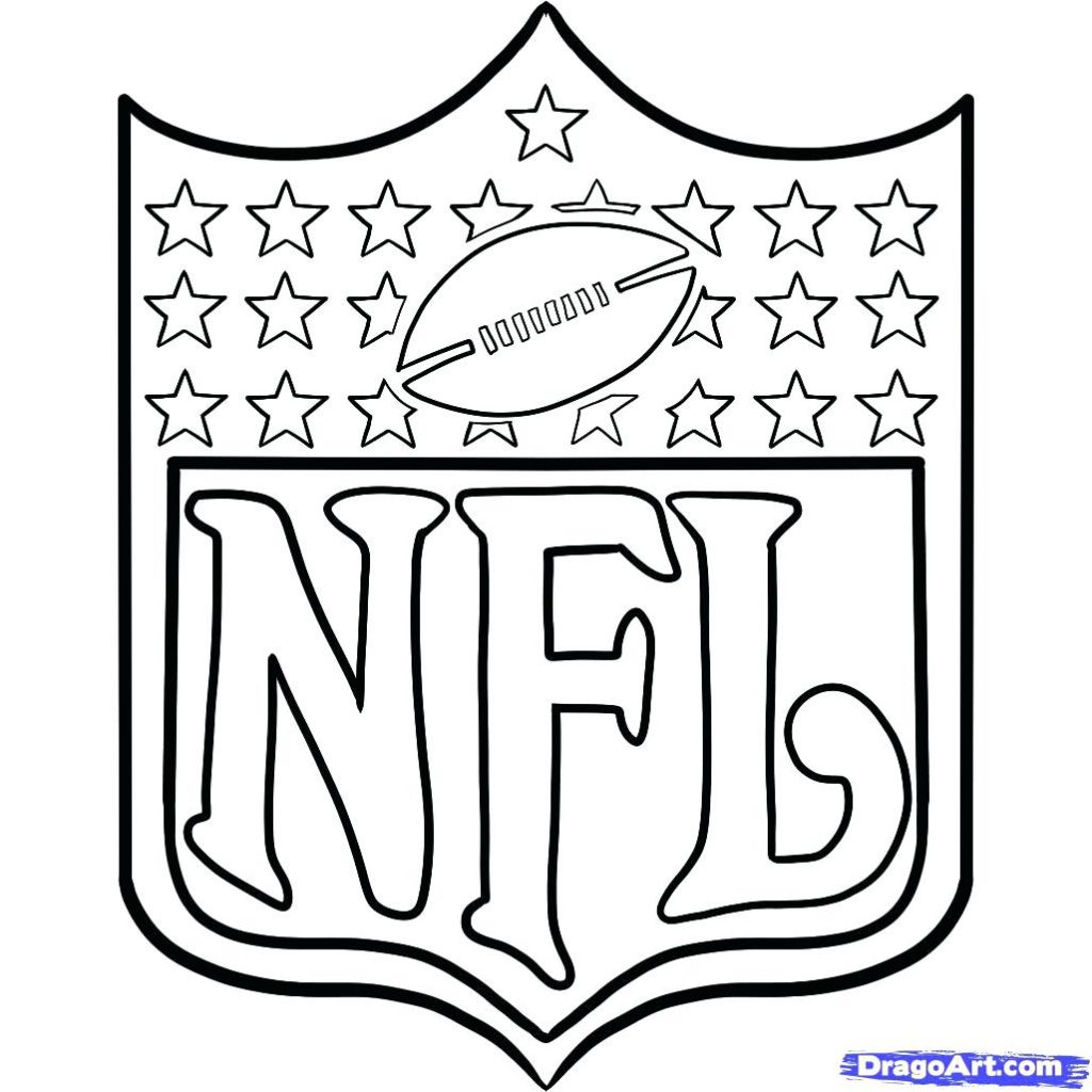 1024x1024 Coloring Pages Football Coloring Pages Drawn Printable Nfl