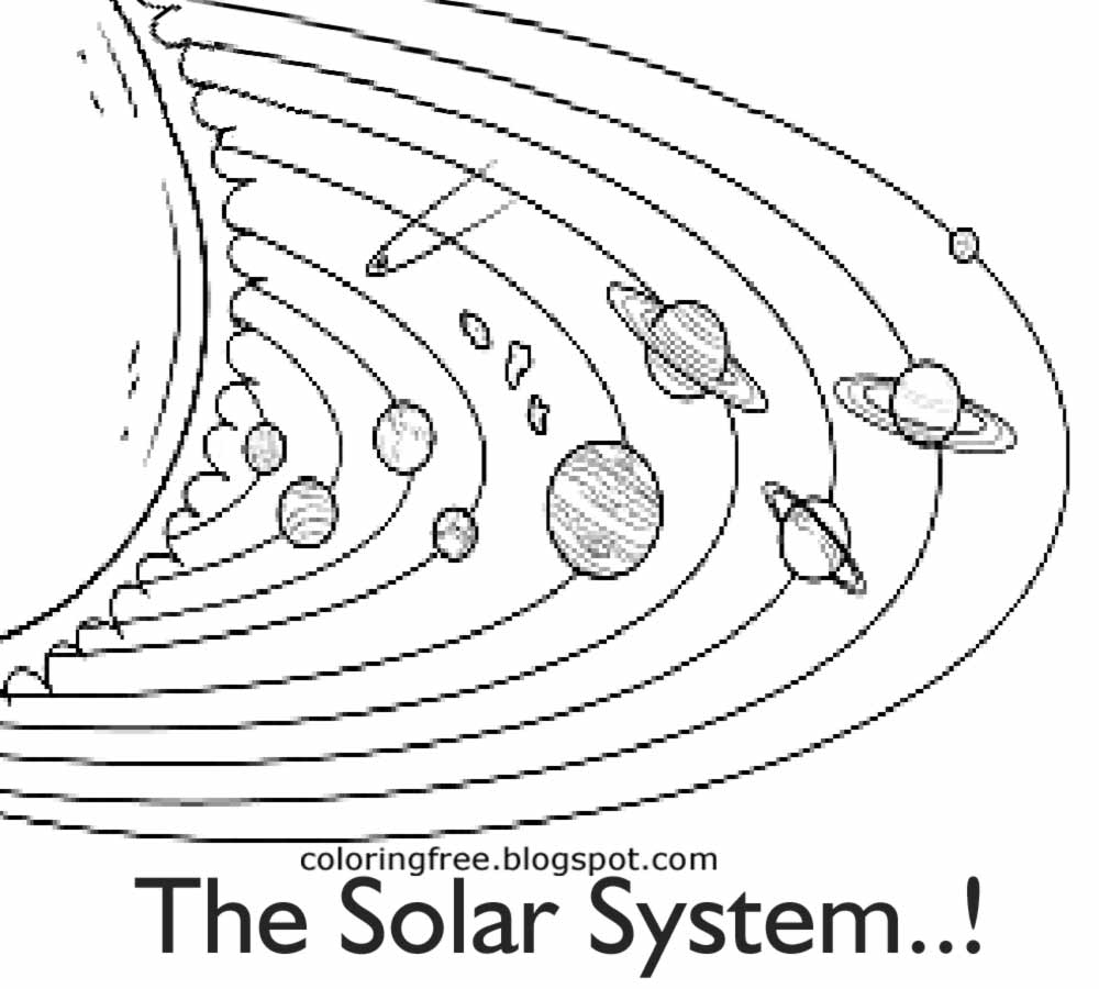 1000x900 Solar System Black White Picture Collections Black