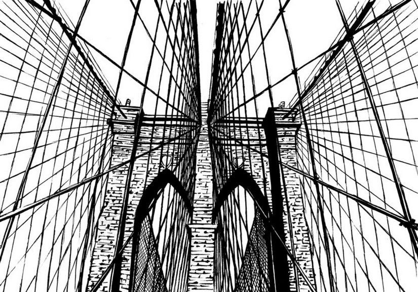 825x577 Brooklyn Bridge Adult Color Books Brooklyn Bridge