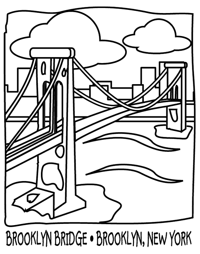 645x818 Brooklyn Bridge Coloring Pages