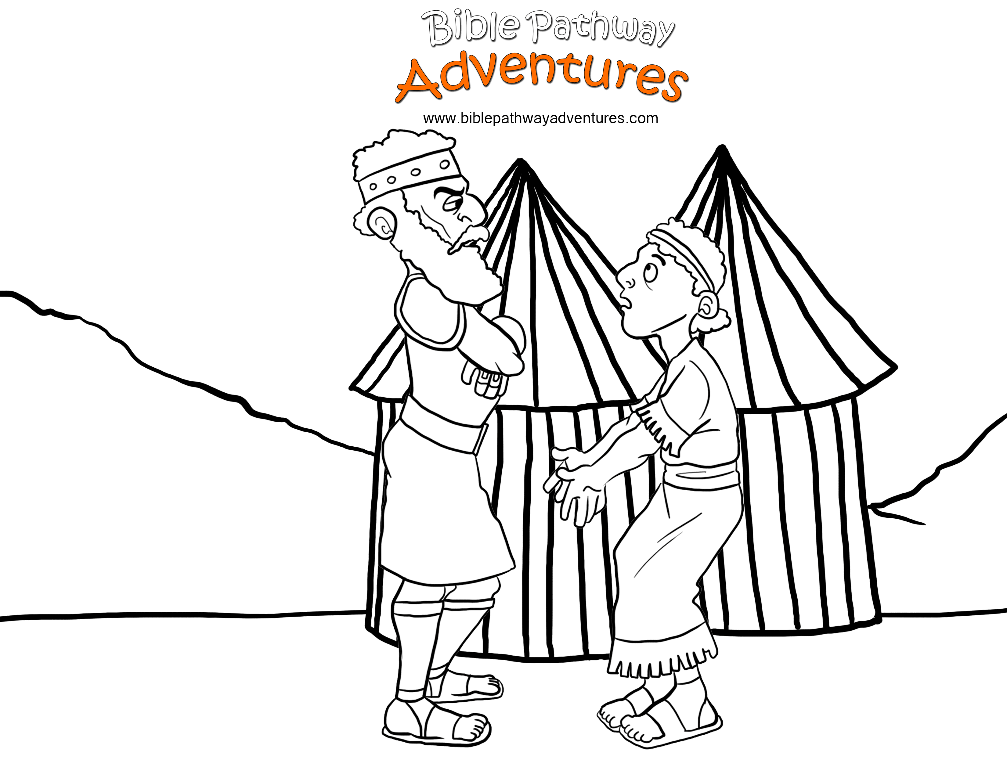 3300x2550 Saul And David Coloring Pages