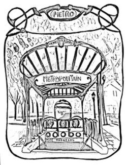 250x323 Subway Entrance Coloring Pages